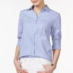 🔥Charter Club Tailored Fit Button down Top